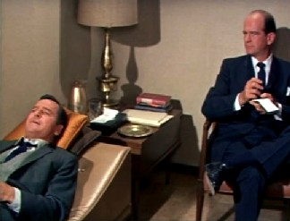 Roger and his psychiatrist, Dr Gruber
