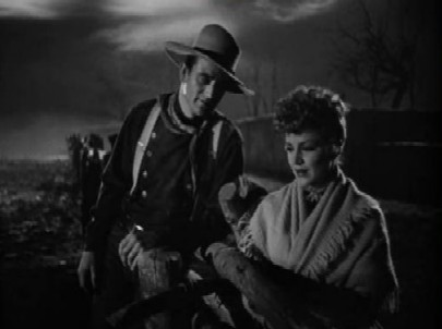 John Wayne and Claire Trevor in Stagecoach