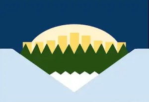 A redesign of the Edmonton's city flag.