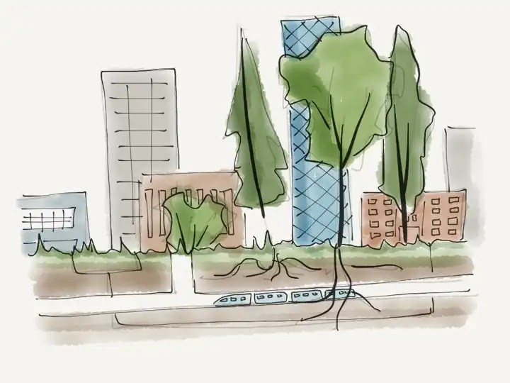 Biophilic cities bring nature into cities.