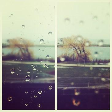 A rainy Chicago day.