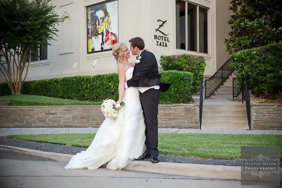 hotel zaza houston wedding reception photo