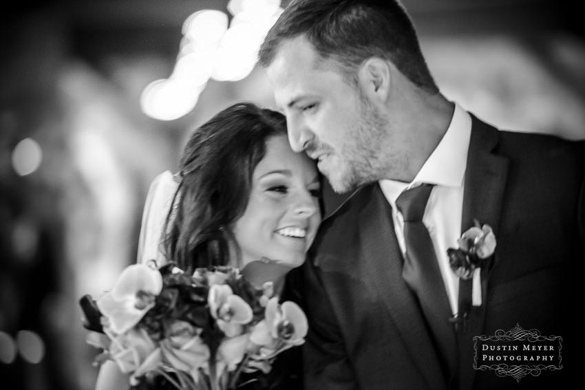 black and white film wedding photography photo of bride and groom Austin Wedding Photographers