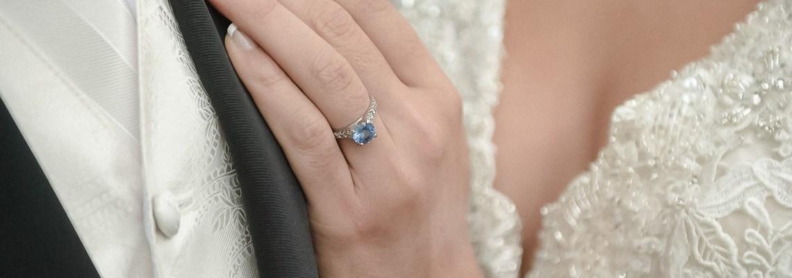 sapphire wedding engagement ring