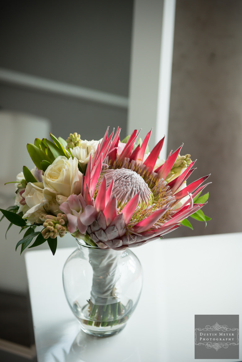 Bridal Wedding Bouquets Proteas flower | W Austin Hotel Wedding