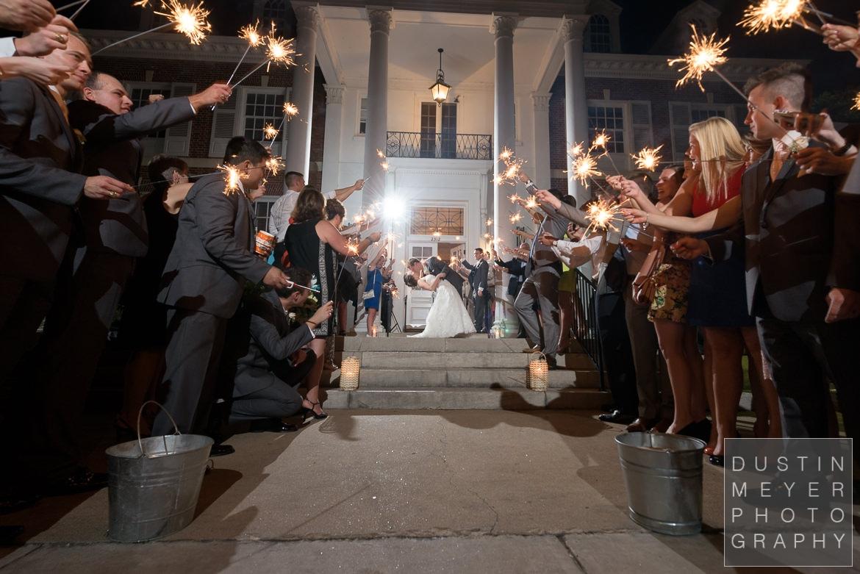 sparkler exit texas federation of women's clubs wedding