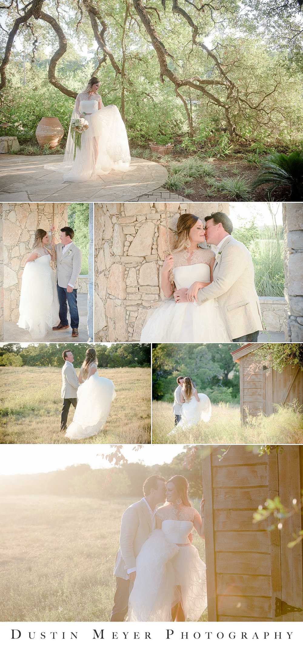 camp lucy wedding, bridal gown, wedding portraits, bride and groom, groomsmen attire, wedding gown, outdoors, natural light, hill country wedding, sacred oaks ceremony