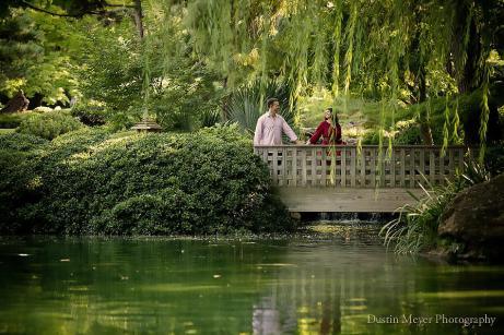 Fort Worth Botanic Japanese Garden Engagement Portraits Photos Photography