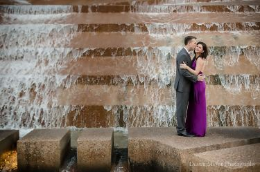 Fort Worth Water Gardens Engagement Portraits Photos Photography