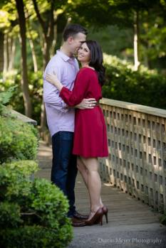 Fort Worth Botanic Japanese Garden Engagement Portraits Photos Photography