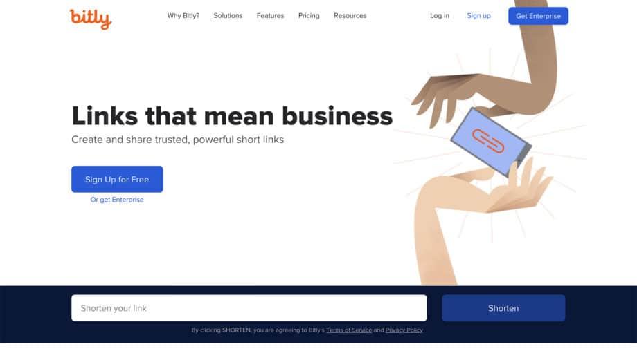bitly.com homepage