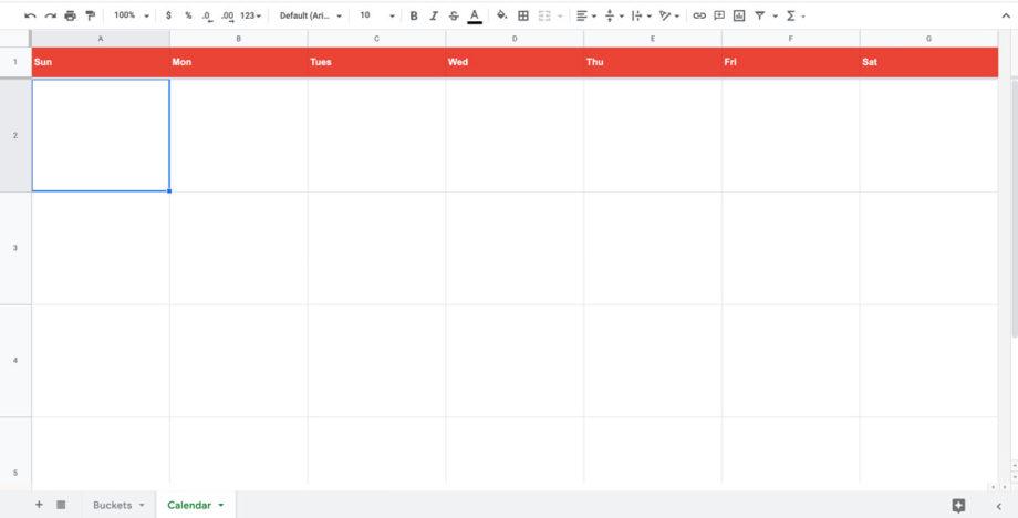 content calendar spreadsheet template
