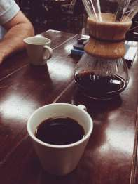 chemex coffee with mug