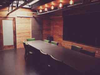 rustic meeting room