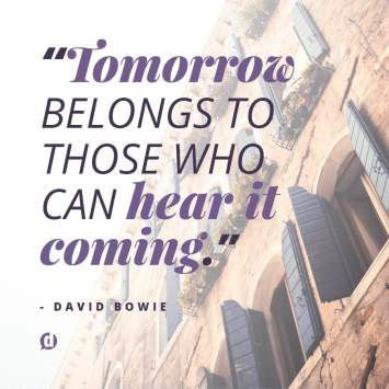 tomorrow quote david bowie