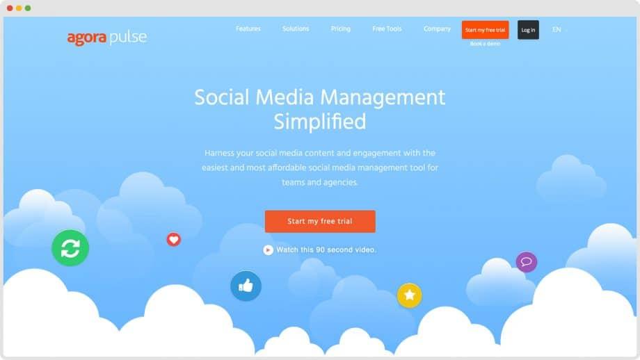 Agorapulse home page