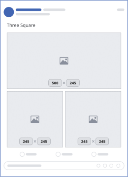 facebook three square upload mockup