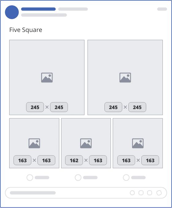 facebook five square upload mockup
