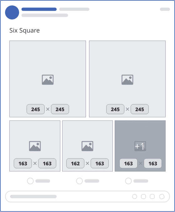 facebook six square upload mockup