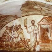samson painting in roman catacombs
