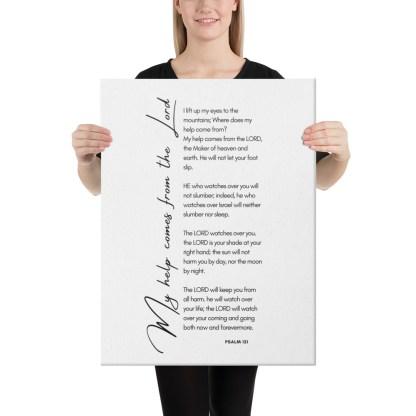 Psalm 121 canvas-(in)-18x24-person-60300061ceb6f