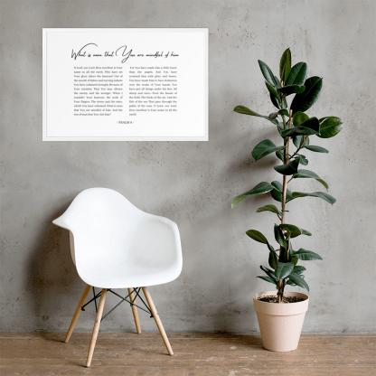 Psalm 8 enhanced-matte-paper-framed-poster-(cm)-white-61x91-cm-lifestyle-2-60301076d36a9