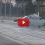 Big Mustang Crash at Drag Strip