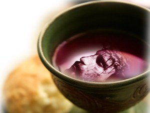 Jesus cruxified and the cup