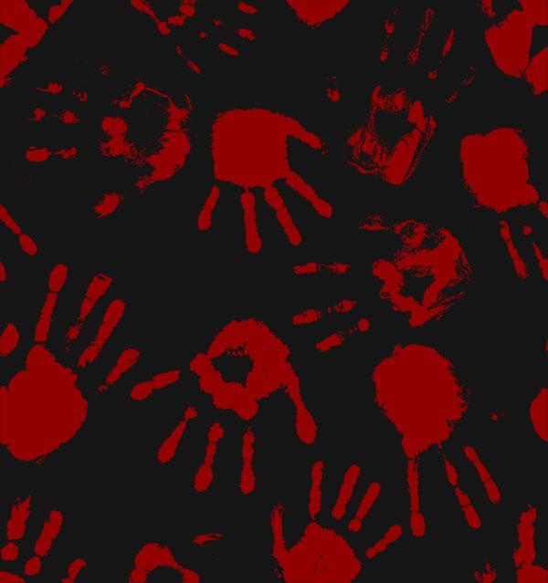 bloody hands dark bg