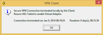 Cisco VPN client Reason 442 - Cisco Vpn Client Windows 10 Regedit