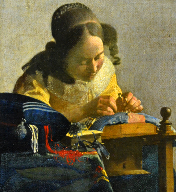 Vermeer's Lacemaker at the Louvre Museum