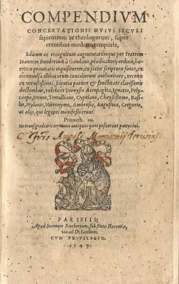 Joannes Bunderius, 1549 (Jaspers & Meeder, #2)