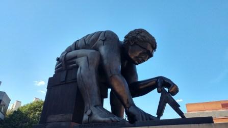 Eduardo Paolozzi, sculpture of Newton (after Blake)