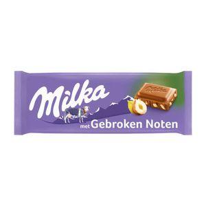 Milka Gebroken noot melkchocolade