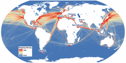 international-maritime-route