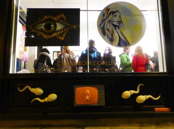 Curious Duke Gallery window