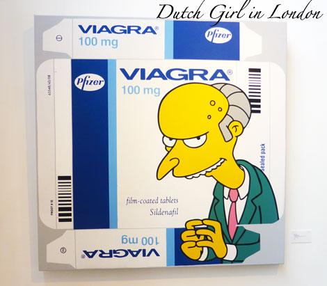 Ben Frost Viagra Mr Burns Simpsons StolenSpace Gallery London