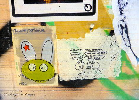 BunnyBrigade Brick Lane MSC Shoreditch street art