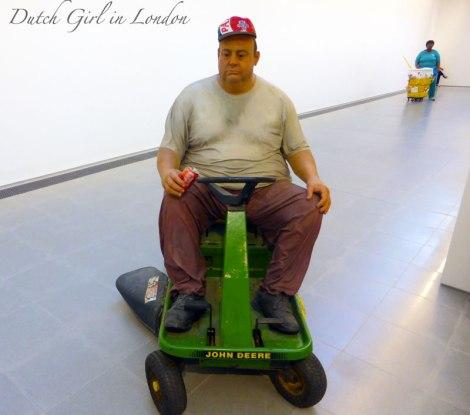 Man on Mower Queenie II Duane Hanson Serpentine Gallery London