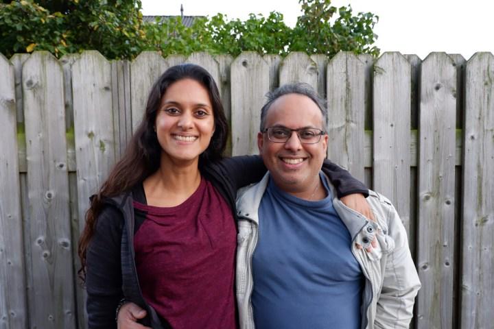Zarina met haar broer