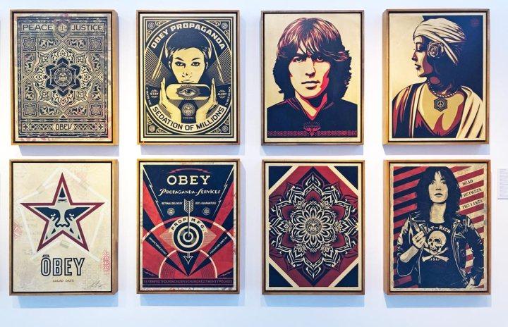 Shepard Fairey London StolenSpace Gallery exhibition