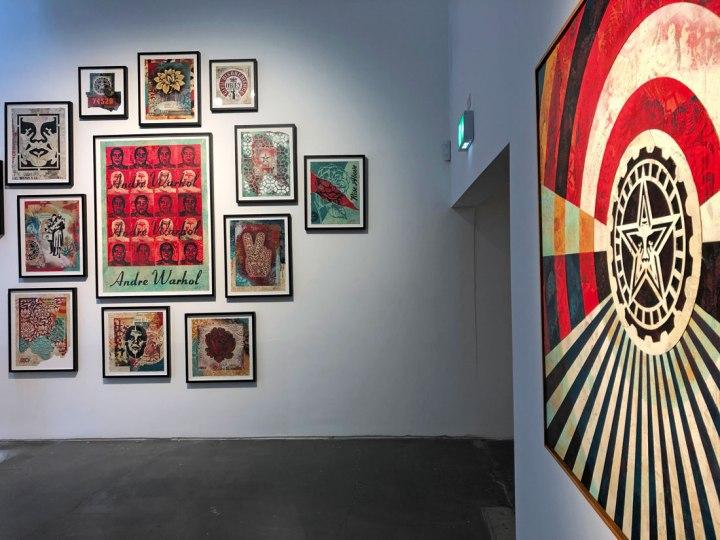 Shepard Fairey London exhibition 2019 Face the Giant