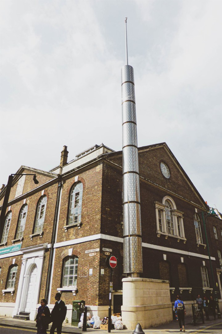 the Brick Lane mosque was previously a Huguenot chapel and synagogue