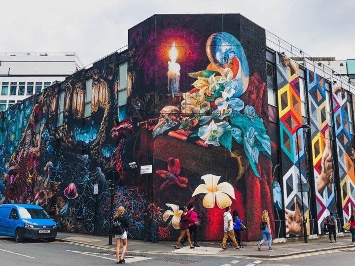 huge east London street artwork on King John Court