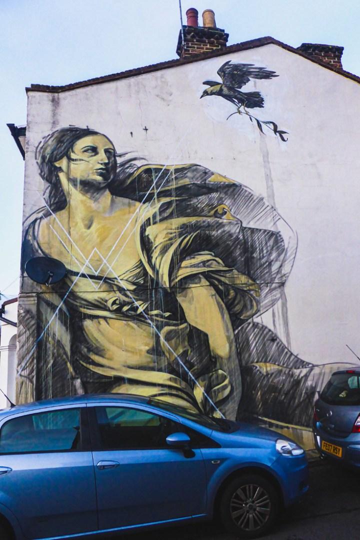 Faith47 mural in Dulwich in London
