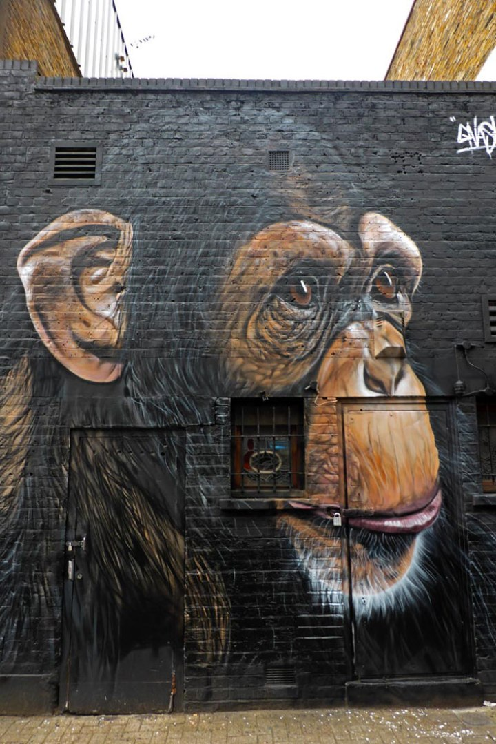 Mural by Gnasher in Camden north London