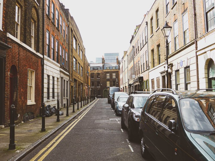 the historical streets of Spitalfields
