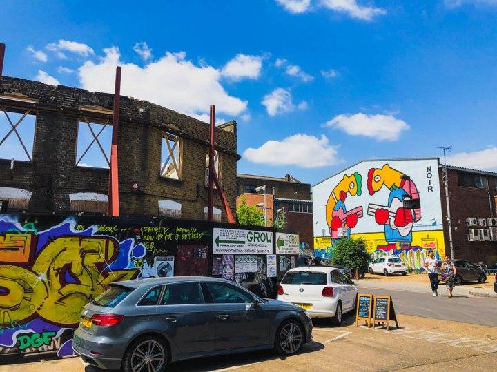 Thierry Noir mural in Hackney Wick