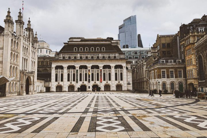 Courtyard of Guildhall London