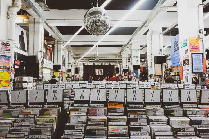 inside Rough Trade East, one of the best independent record stores in London